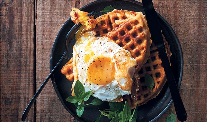 Savoury Breakfast Waffles Food Amp Home Entertaining
