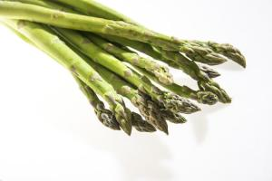 cooked or raw vegetables asparagus