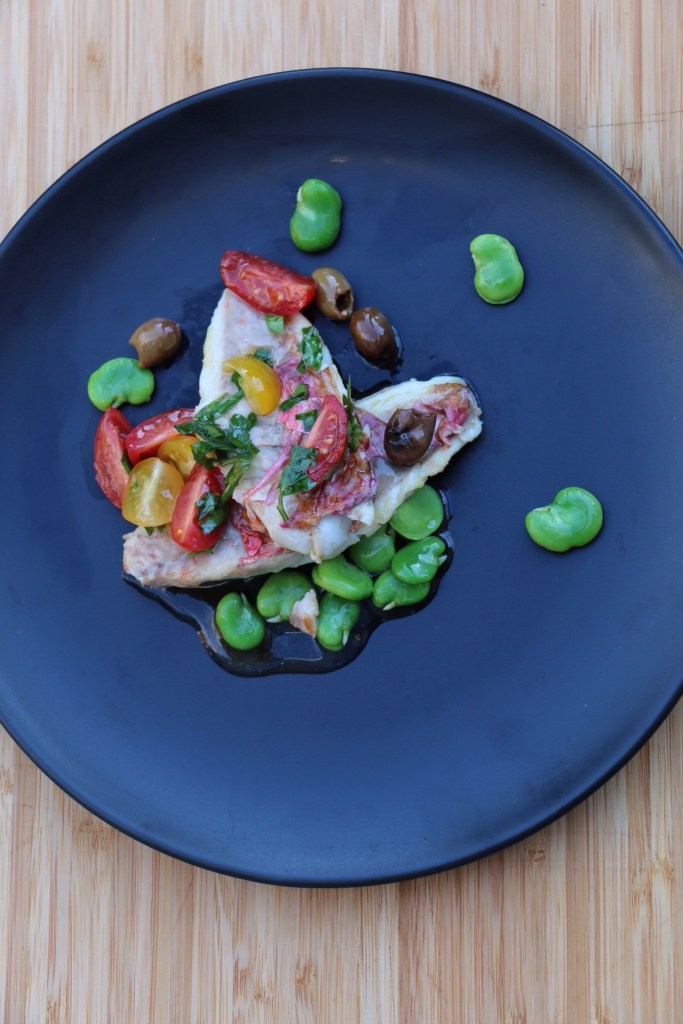 Red Mullet with a Mediterranean salsa