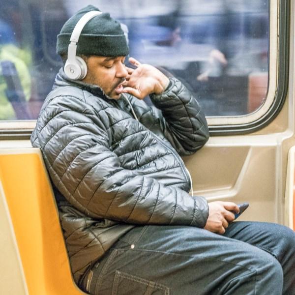 Mensch in der Subway.