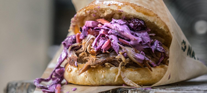 Pulled Pork Burger mit Coleslaw