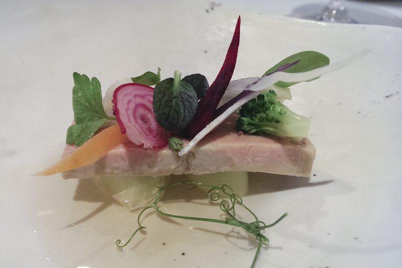 Foie and pickled vegetables