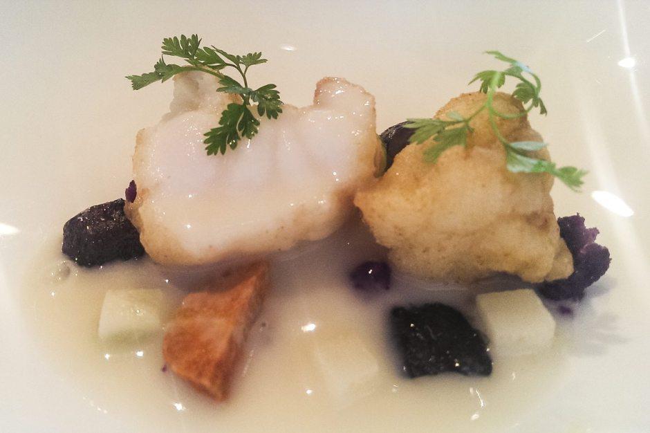 Sant Pau monkfish and lemon verbena suquet