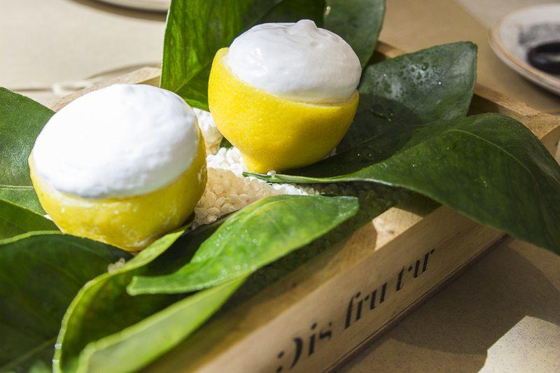 Lemon verbena and pineapple sorbet Disfrutar