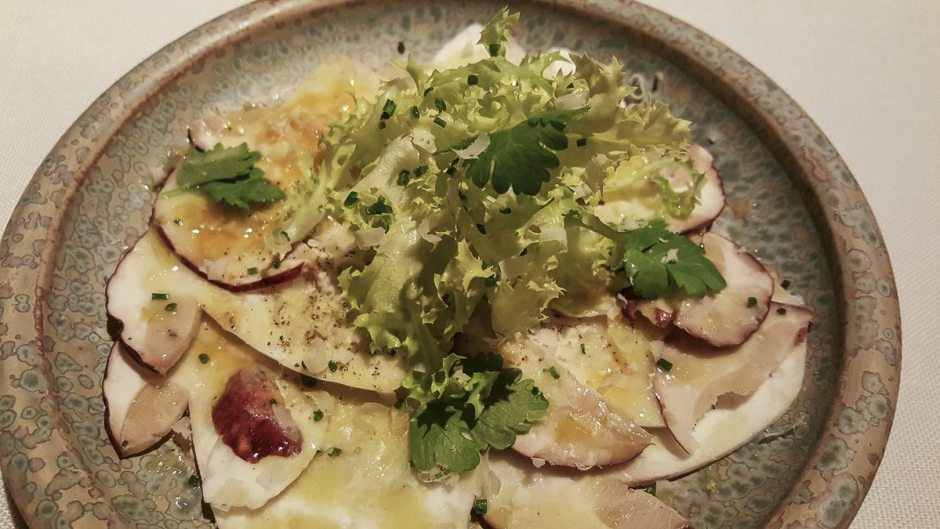 Porcini mushrooms and Parmesan carpaccio Coure