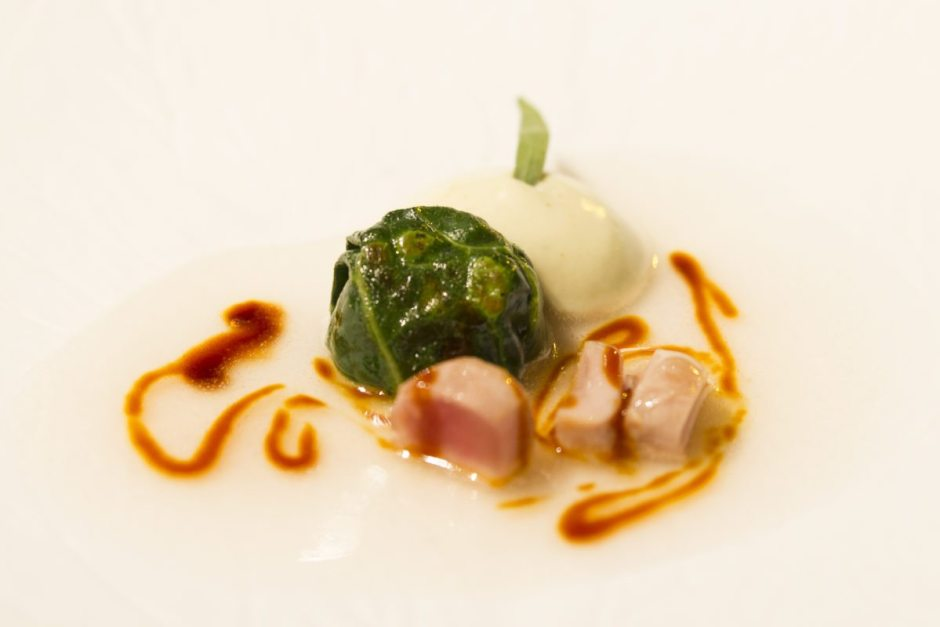Partridge and fermented cabbage salad, El Celler de Can Roca