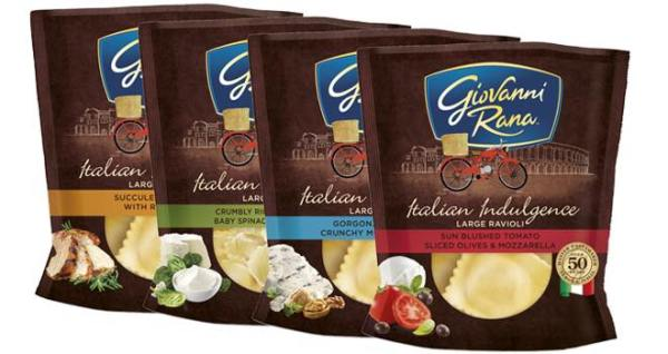 Giovanni Rana reveals new packaging and new pasta products