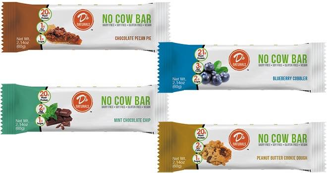 D's Naturals plant-based protein No Cow Bars