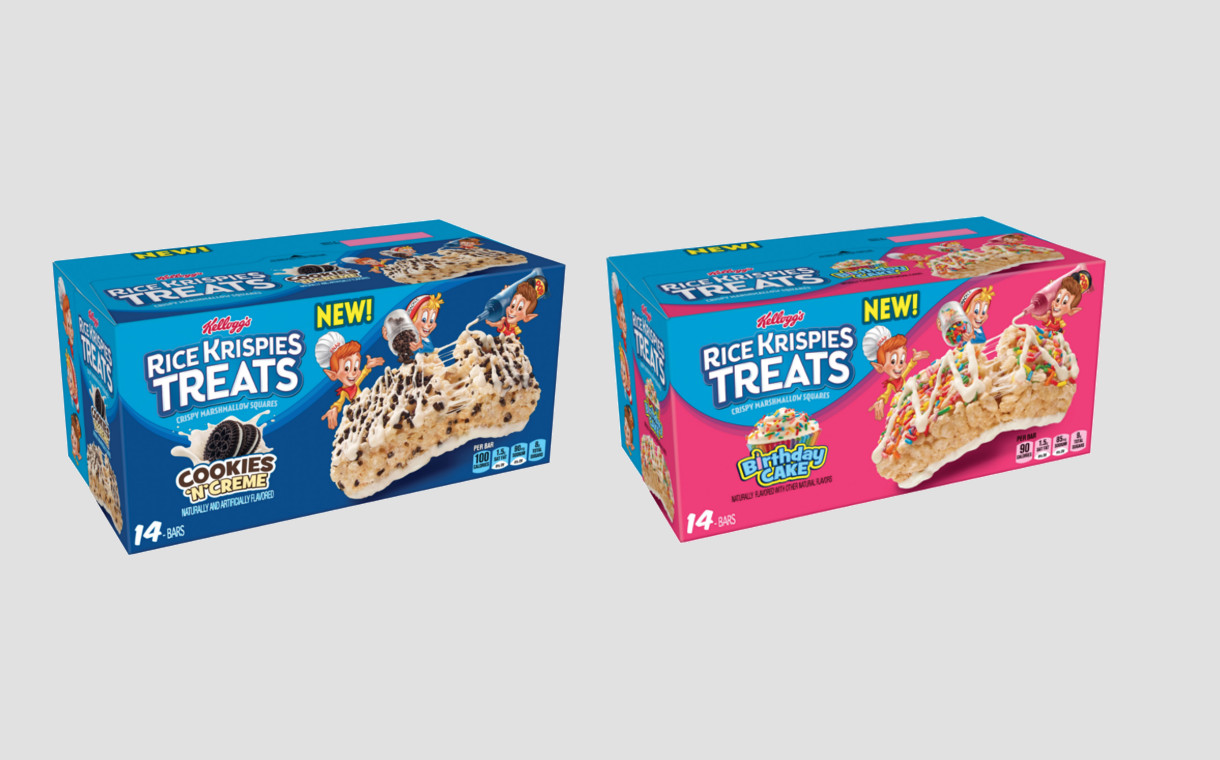 Kellogg S Unveils Two New Rice Krispies Treats Flavours