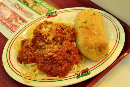 Sbarro - Half Spaghetti with Meatball