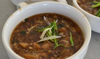 Hot and Sour Soup with Malunggay