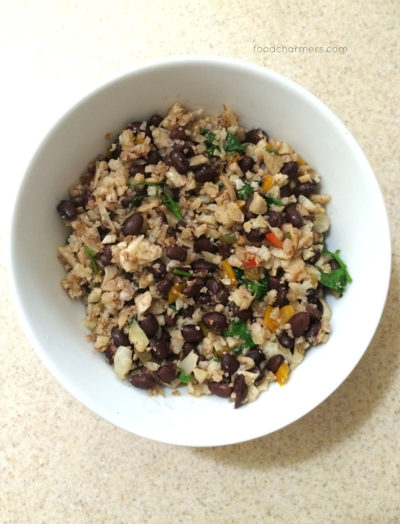 Black Beans & Cauliflower Rice