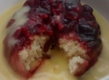 Steamed Pudding Microwave Cherry Suet