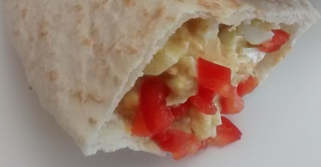 Curried Egg Pitta Bread