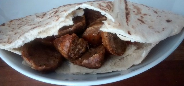 Oven Baked Kebab Meat Pitta Bread