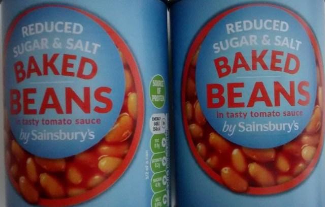 Sainsburys Reduced Sugar Salt Baked Beans Tomato Sauce