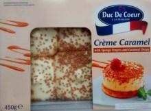 Duc De Coeur a La Francaise Creme Caramel Sponge Fingers Caramel Drops