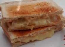 Microwave Cheese Onion Sandwich Toastie Recipe