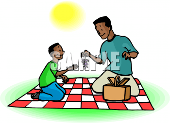 Clipart Picture Of A An African American Boy And His Dad