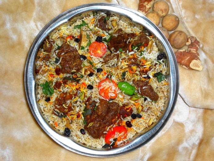 camel meat biryani