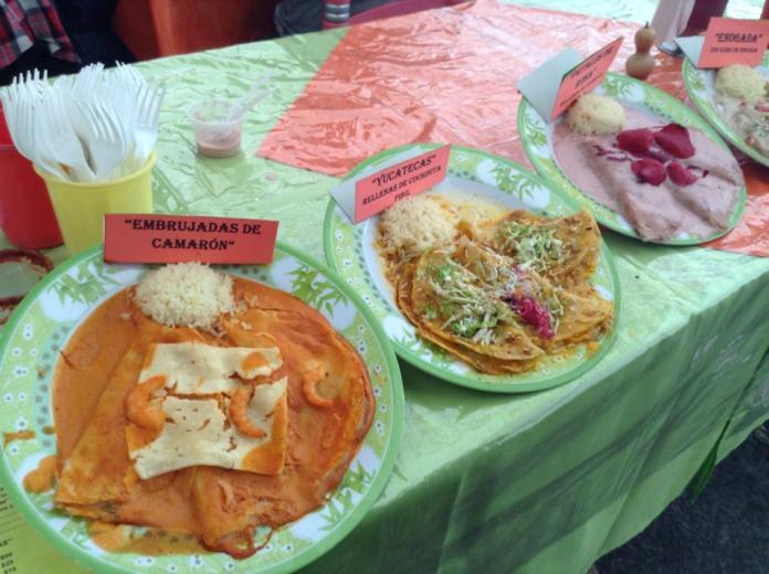 Enchiladas de camaron: