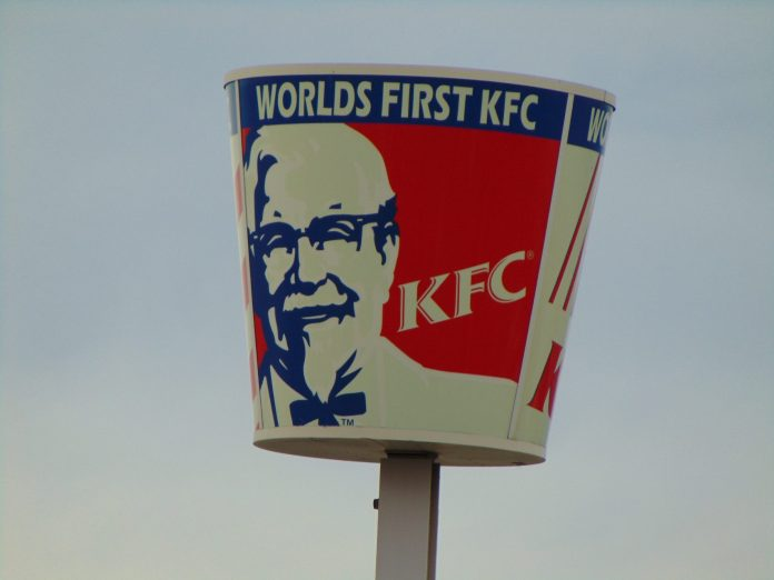 Sign for the first KFC restaurant Mar 16