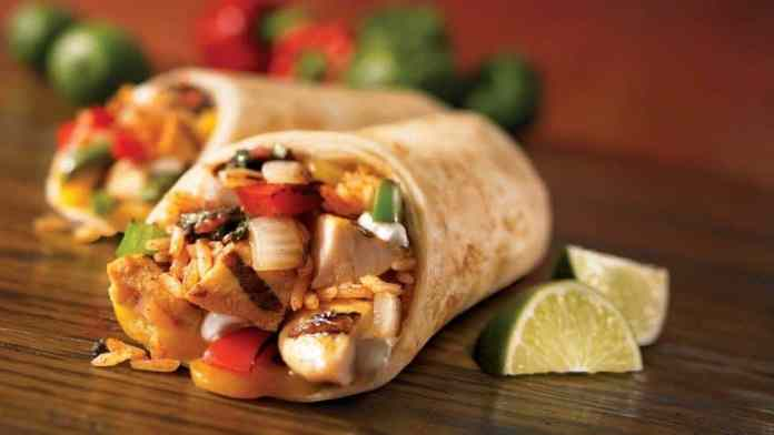 Mexican Chicken and Rice Wraps