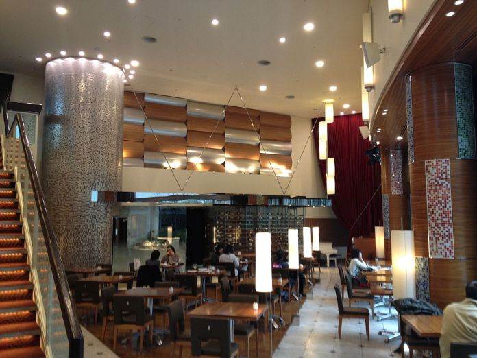 Wolfgang Puck Cafe in the Aichi Arts Center in Nagoya, central Japan.