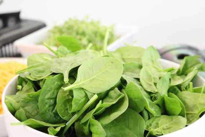 Spinach Parmesan Rice Bake