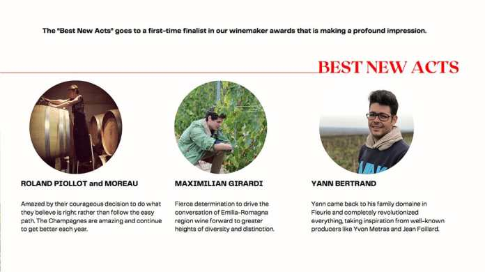THE WORLD'S BEST 50 YOUNG WINEMAKERS