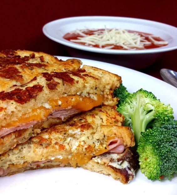 a sun dried tomato monte cristo sandwich