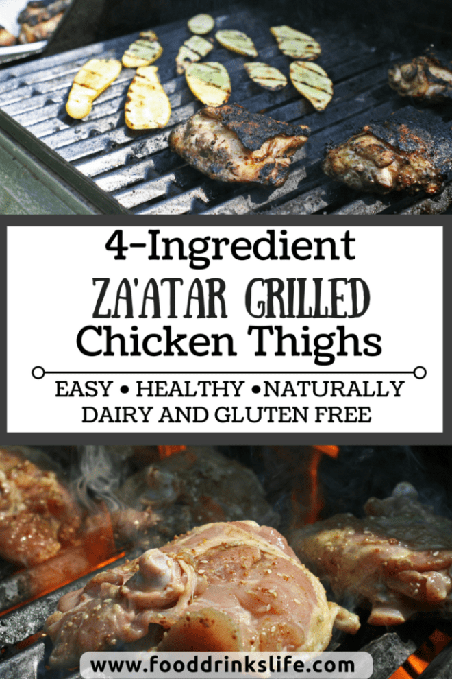 Za'atar Grilled Chicken Thighs | Food Drinks Life