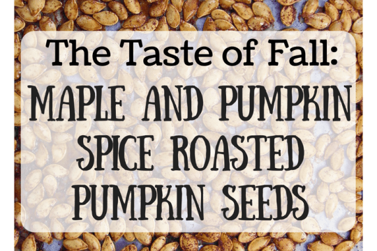 Maple and Pumpkin Spice Roasted Pumpkin Seeds | Food Drinks Life
