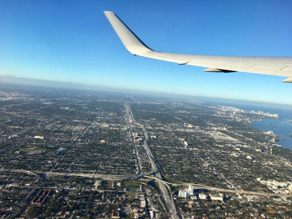 La partenza da Miami. Emozionante.