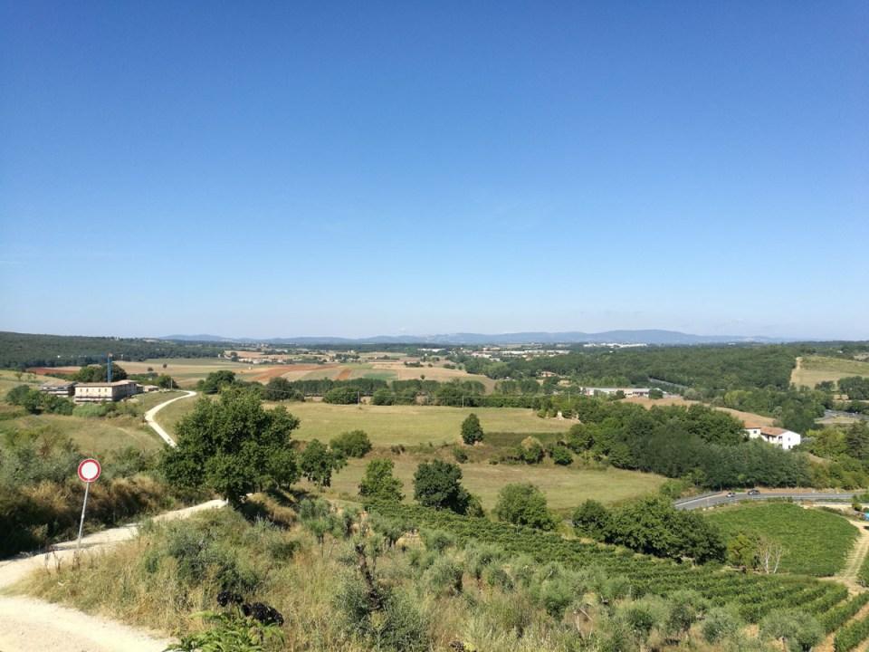 Panorama dalla Porta d'accesso a Monteriggioni