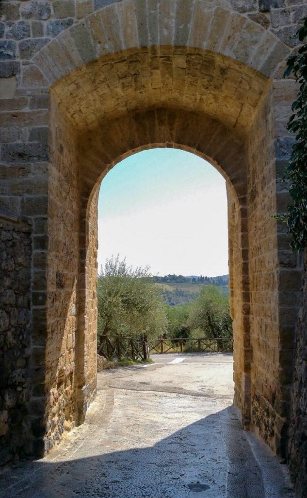 Porta d'ingresso a Monteriggioni