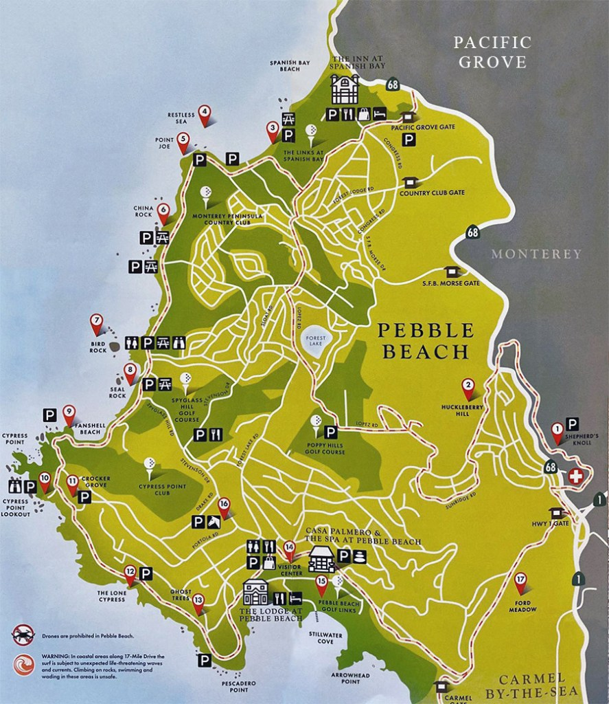 17-MILE DRIVE MAP