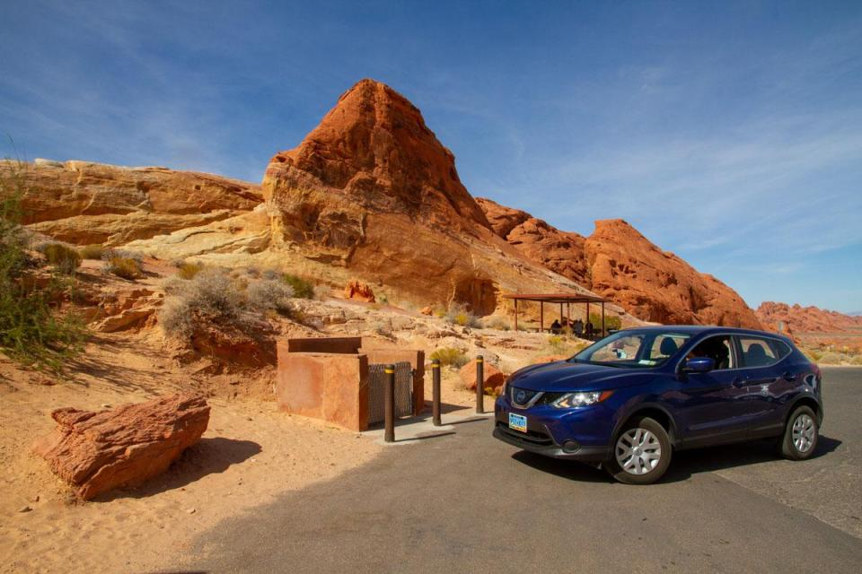 la nostra Nissan Rogue a Valley of Fire - resoconto