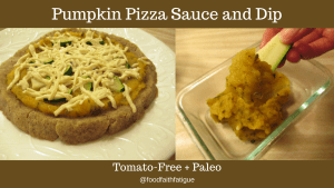 Tomato free pumpkin pizza sauce and dip food faith fatigue