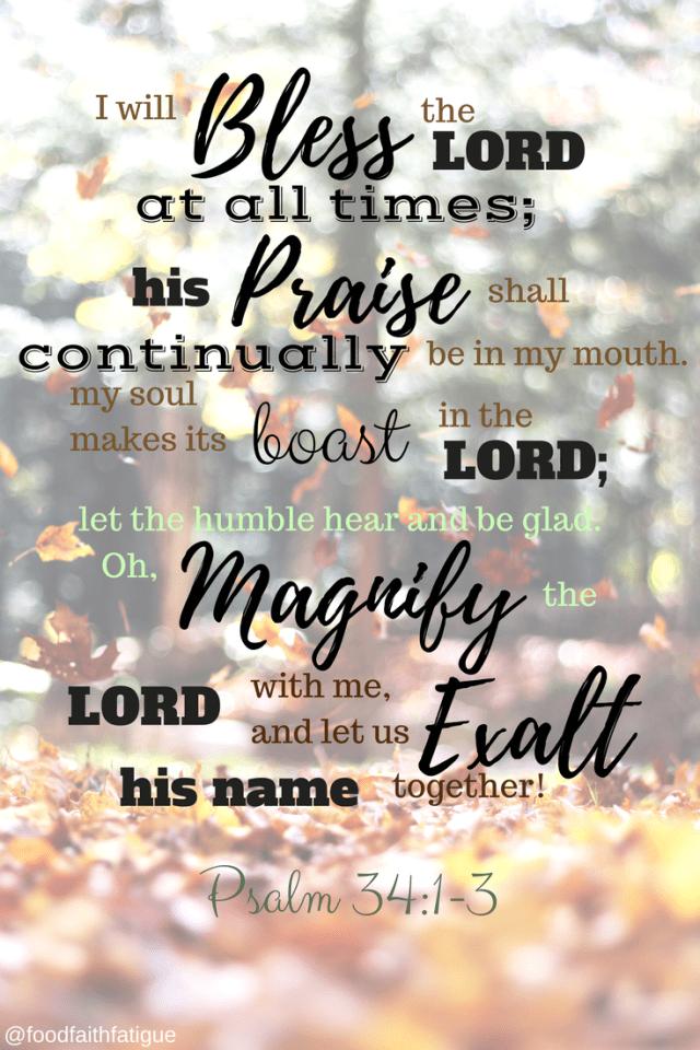Psalm 34:1-3