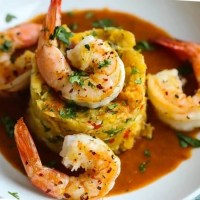 """sanford and son theme"" Mofongo relleno (mashed fried plantains stuffed with garlic shrimp)"