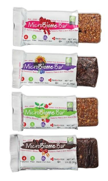 MicroBiome Bars - 4 delicious flavors and 4 prebiotic fibers