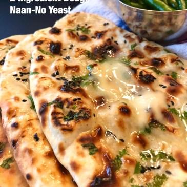 Two Ingredient Dough Naan/Flatbread-No Yeast