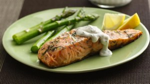 grilled-salmon-with-lemon-dill-sauce-foodflag