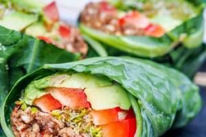 Raw Vegan Collard Wraps Recipe