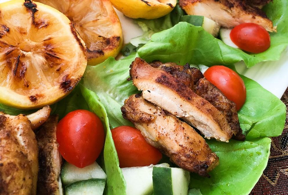 Shawarma-Spiced  Chicken  Wraps