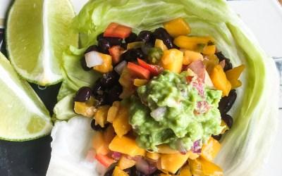 Spicy  Black  Bean  Taco  Wraps  with  Fresh  Guacamole