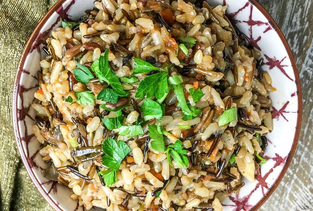Instant Pot Wild Rice Pilaf