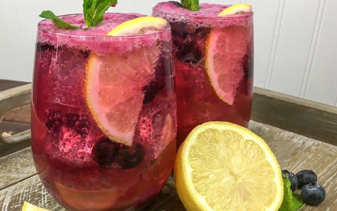 Sparkling Blueberry Maple Lemonade