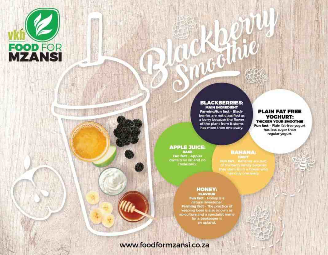 Boost your summer body with a blackberry smoothie.